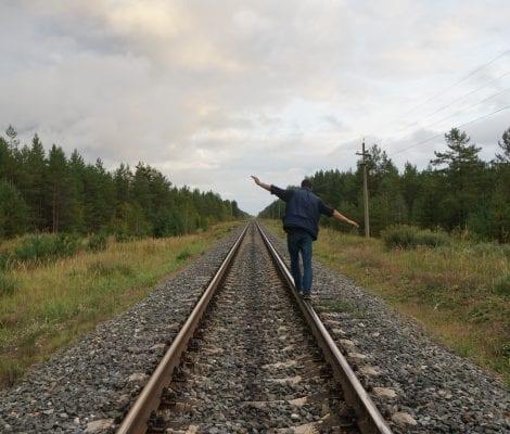 Assertive Stroll Along the Railway